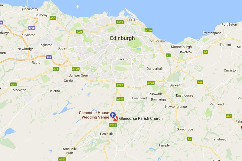 Glencorse House, Glencorse Old Kirk, Location, Wedding Venues Midlothian